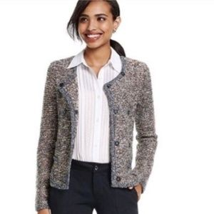 CAbi #3016 Ritz Tweed Style Sweater Small.